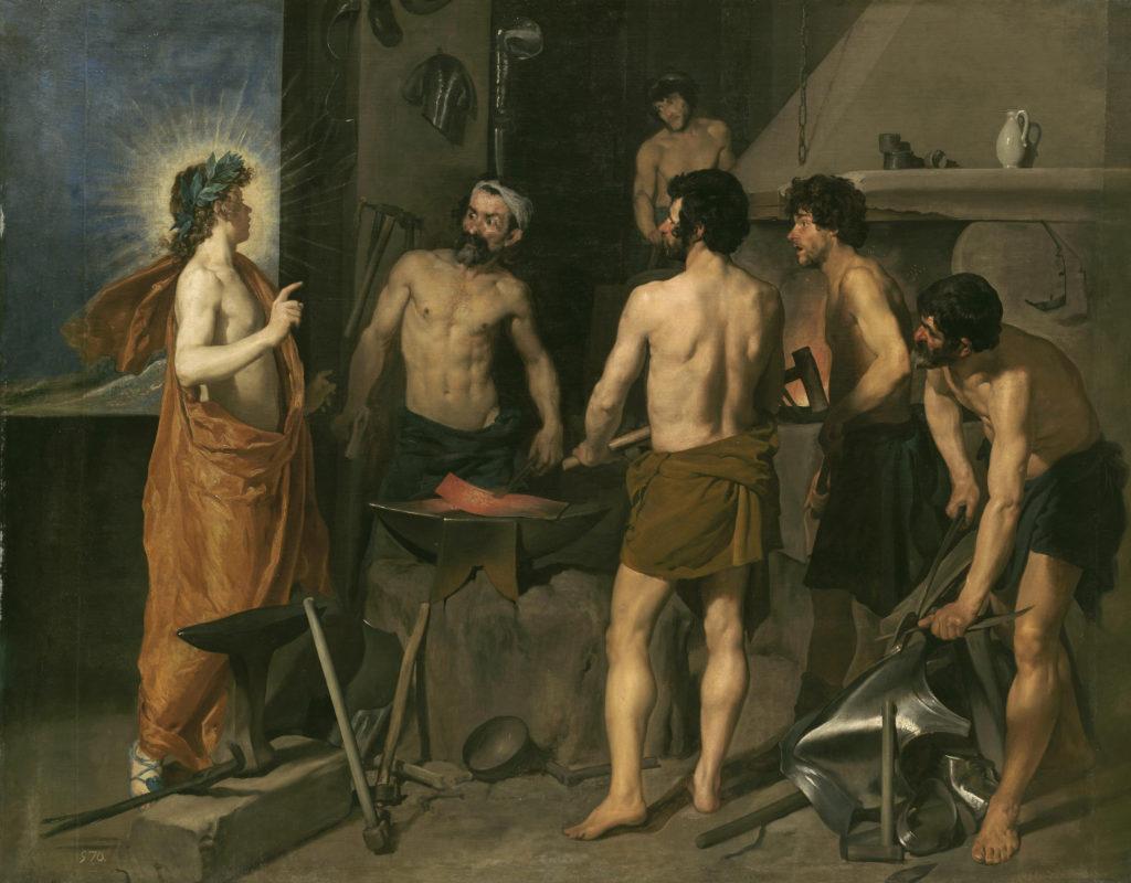 La fragua de Vulcano por Diego Velázquez