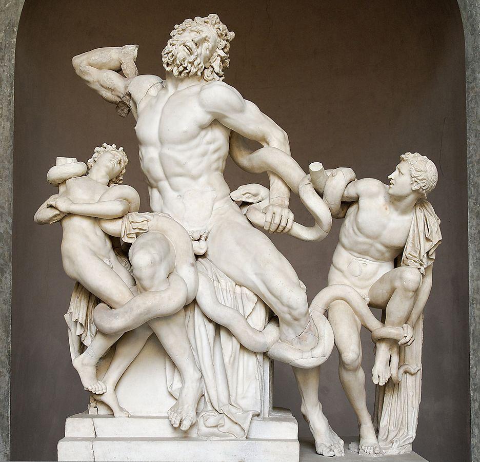 Laocoonte y sus hijos por Agesandro, Polidoro y Atenodoro de Rodas