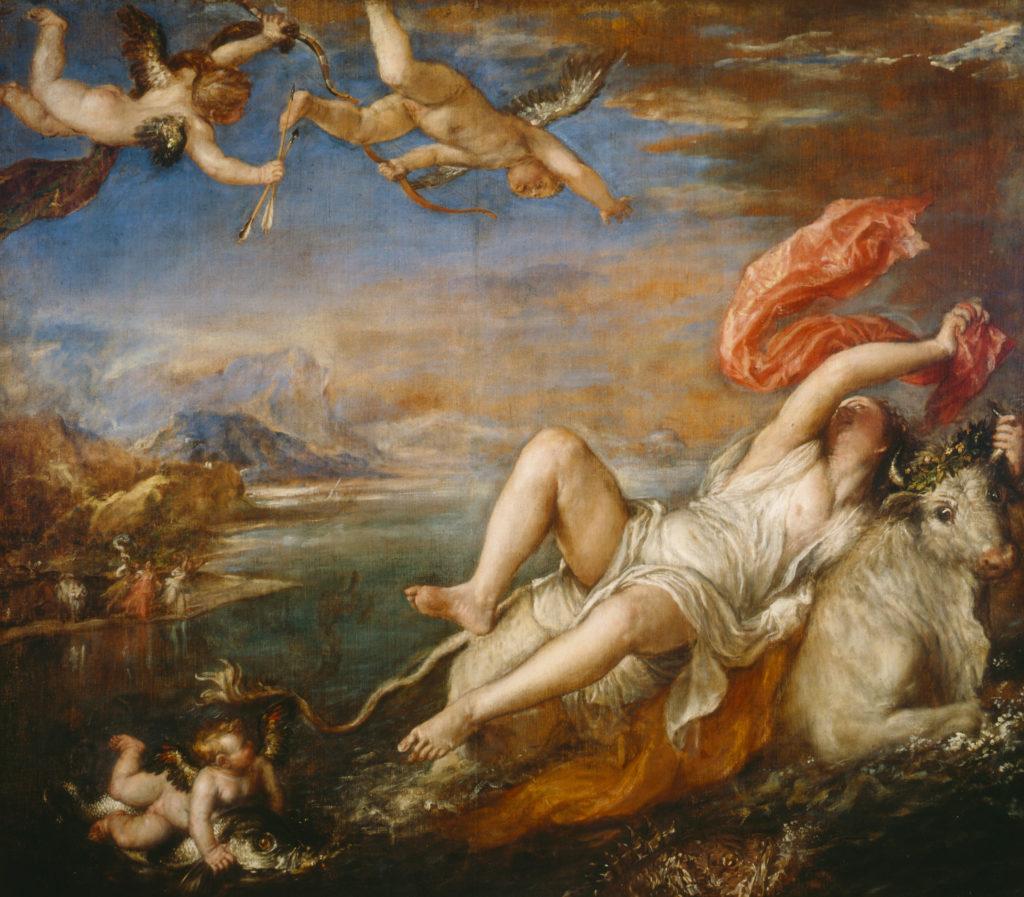 Rapto de Europa por Tiziano