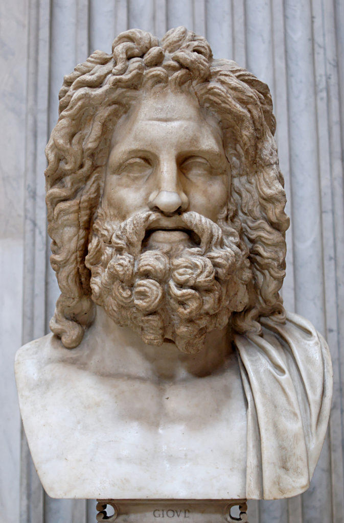 Busto de Zeus hallado en Otricoli
