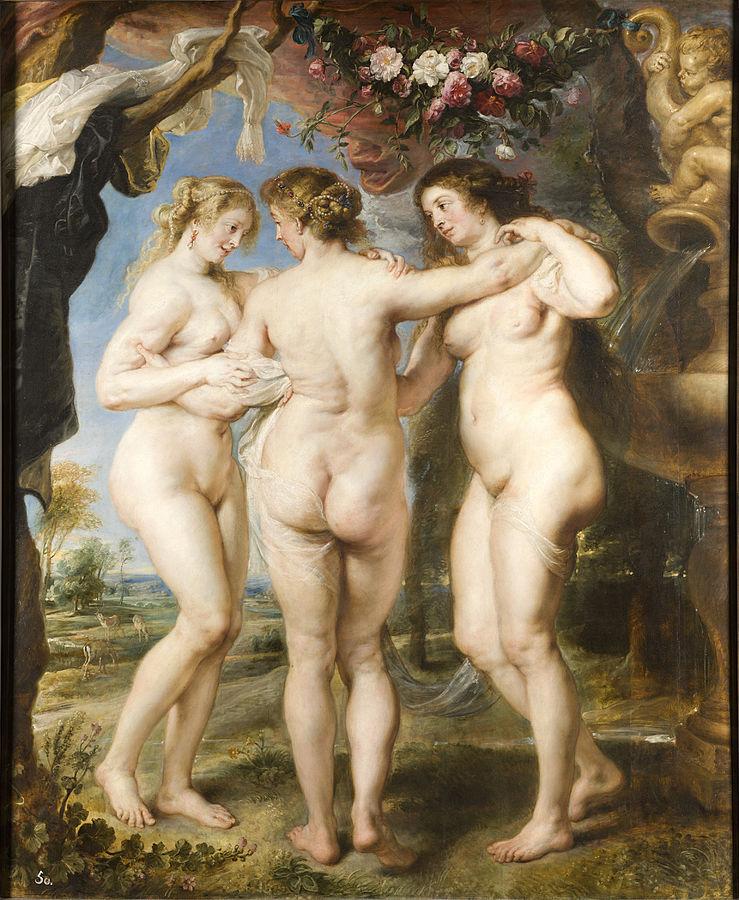 Las Tres Gracias por Pedro Pablo Rubens