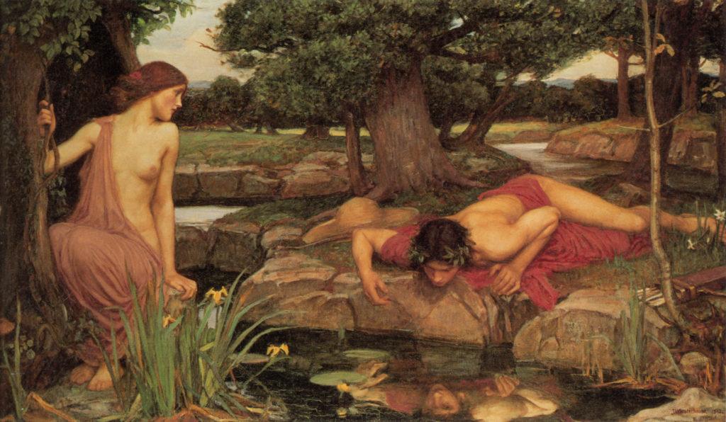 Eco y Narciso por John William Waterhouse