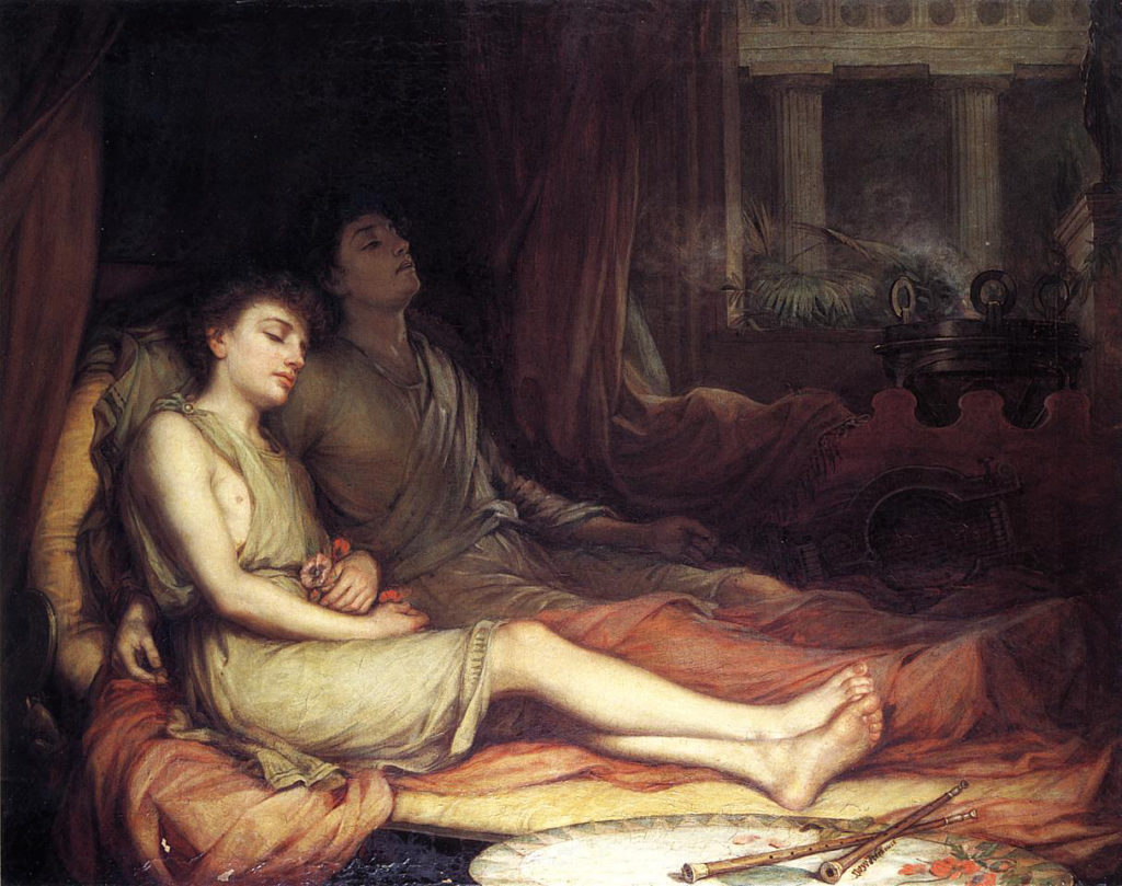 Sueño y su hermanastro Muerte por John William Waterhouse