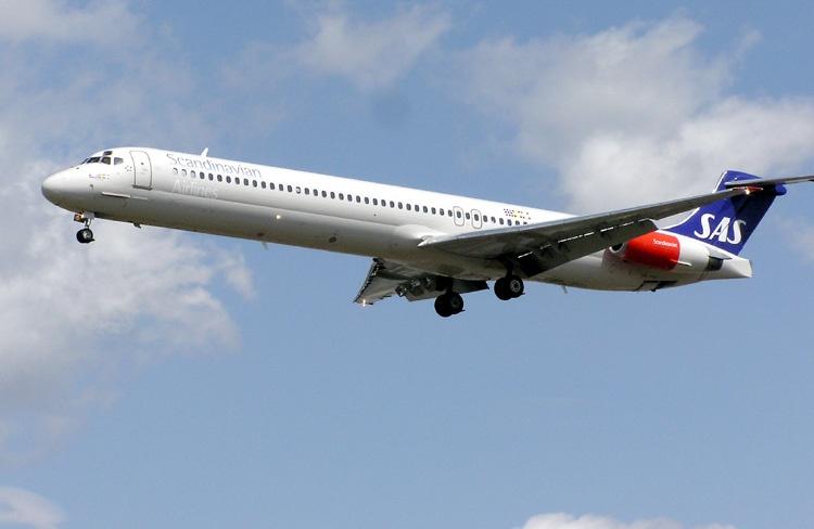 SAS airplane