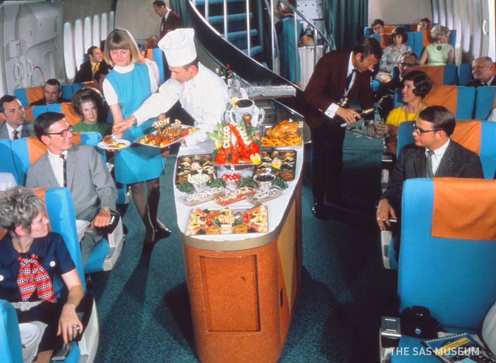Meal aboard SAS airlines