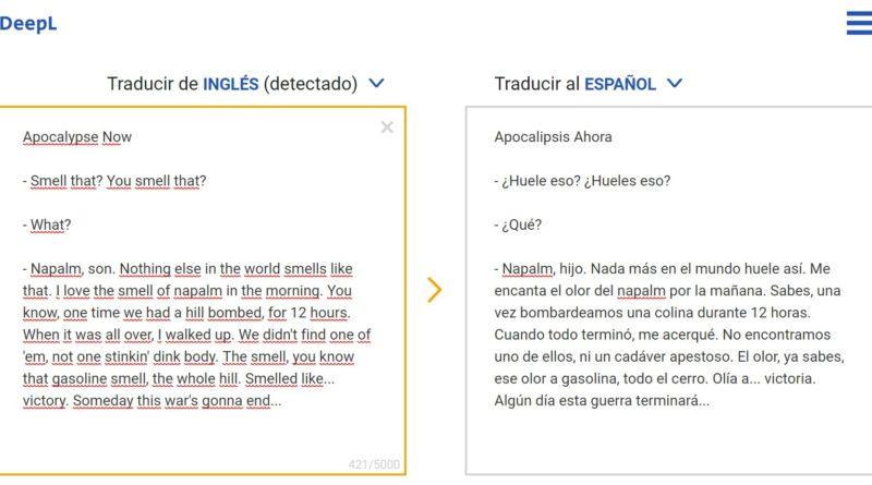 DeepL - El traductor que aprende mediante redes neuronales.