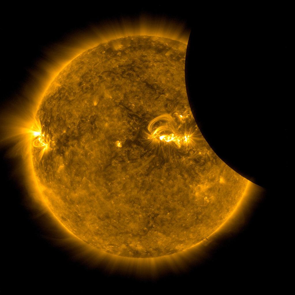 Eclipse de Sol de Agosto de 2017 - Imagen del Solar Dynamics Observatory de la NASA