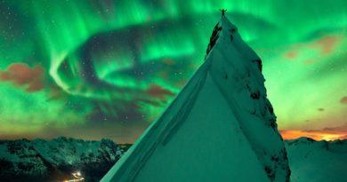 Aurora boreal sobre Noruega de Max Rive