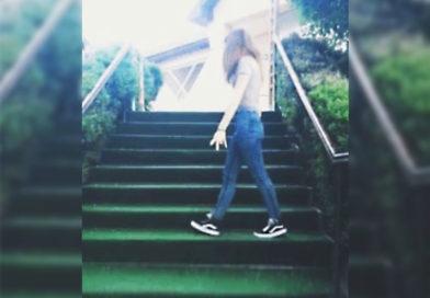 Esto es subir unas escaleras con estilo