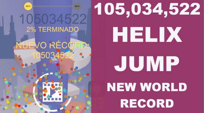 Helix Jump, record mundial de puntuación y nivel más alto