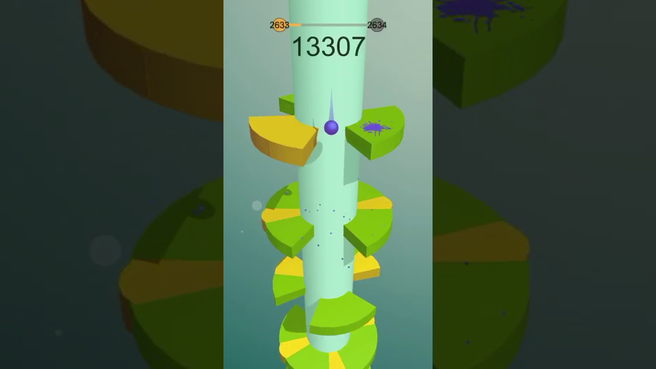 Gameplay con algunos de los más altos niveles de Helix Jump jugados hasta ahora