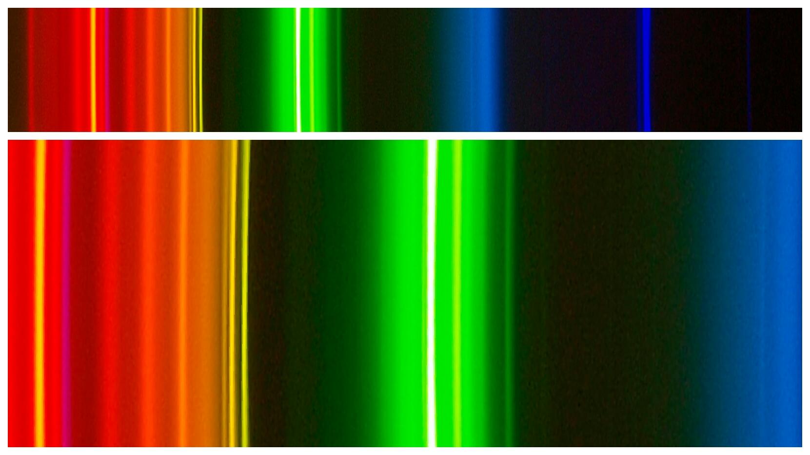 Espectro correspondiente a una bombilla halógena