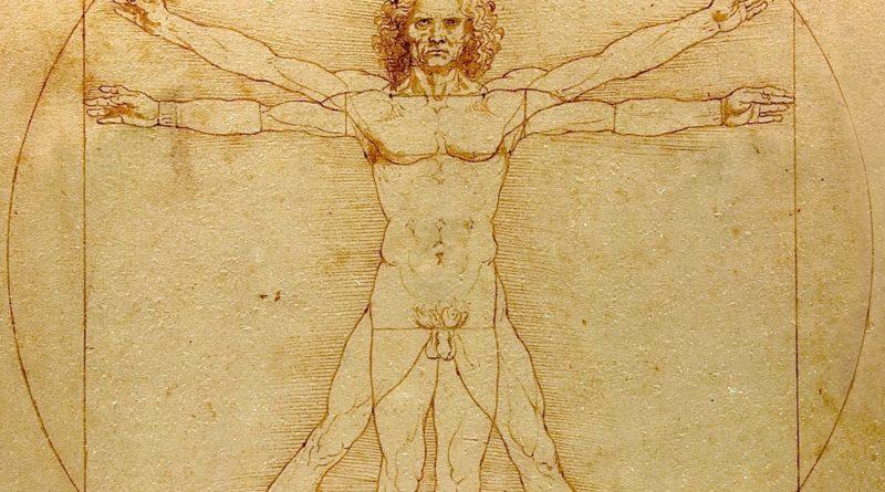 Dibujos de Leonardo da Vinci (El hombre de Vitruvio)