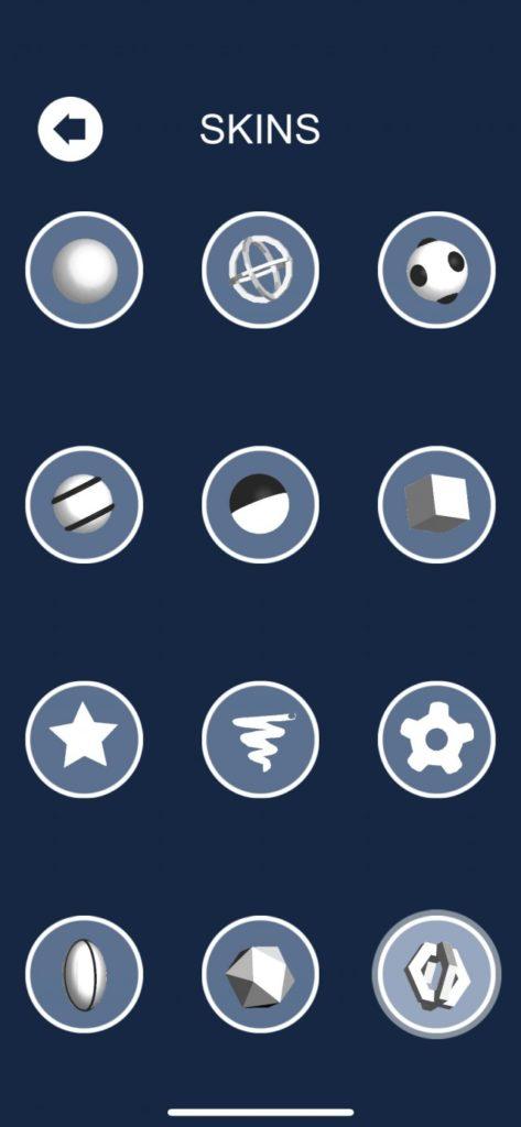 Todos los skins de Helix Jump.