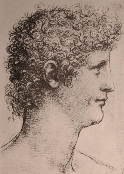 Giacomo Caprotti (Salai) dibujado por Leonardo da Vinci | Imagen de dominio público, vía Wikimedia Commons