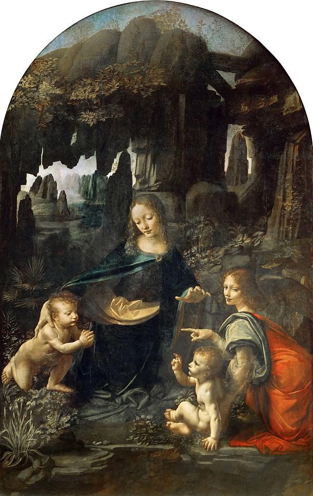 La Virgen de las Rocas de Leonardo da Vinci - Primera versión actualmente visitable en el Museo del Louvre de París