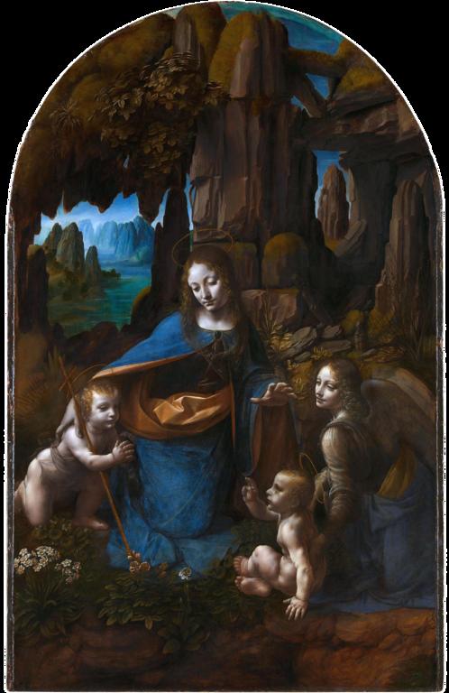La Virgen de las Rocas - Segunda versión del cuadro supervisada por Leonardo da Vinci. Actualmente se expone en la National Gallery de Londres.