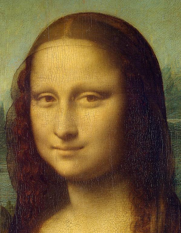 La Gioconda de Leonardo da Vinci - Detalle de la cabez