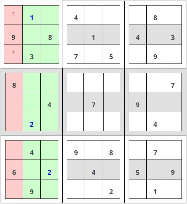 Como resolver sudokus - Paso 1