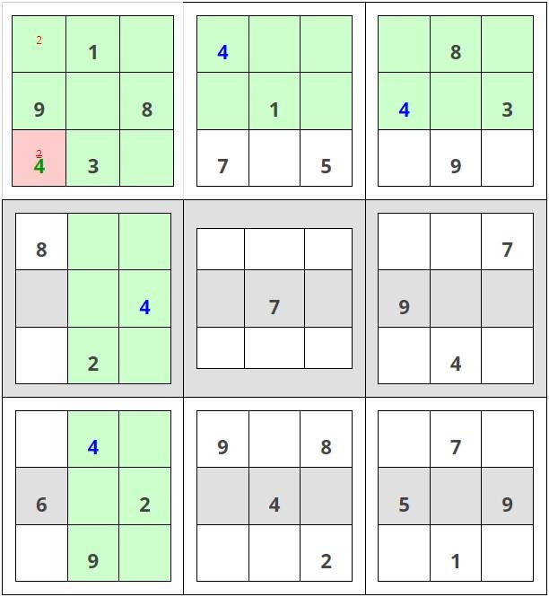 Como resolver sudokus - Paso 2