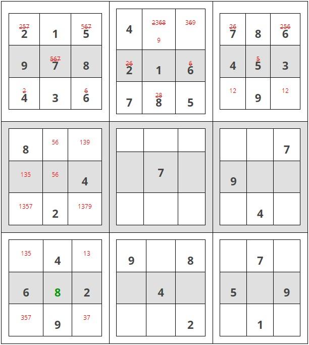Como resolver sudokus - Paso 6