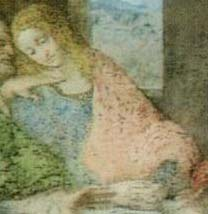 San Juan representado en la Última Cena de Leonardo da Vinci