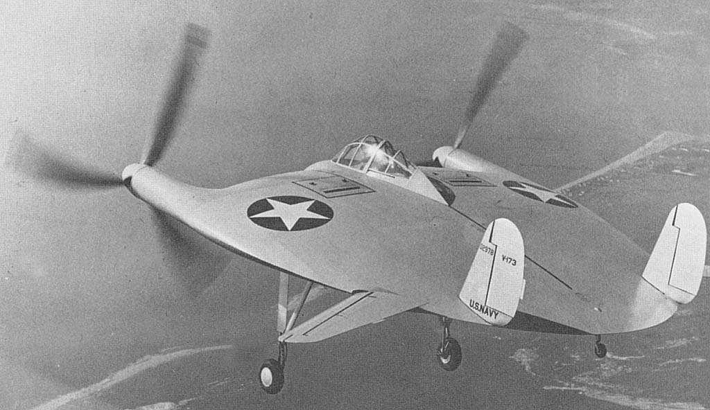 Aviones raros - Vought V-173 - El panqueque volante