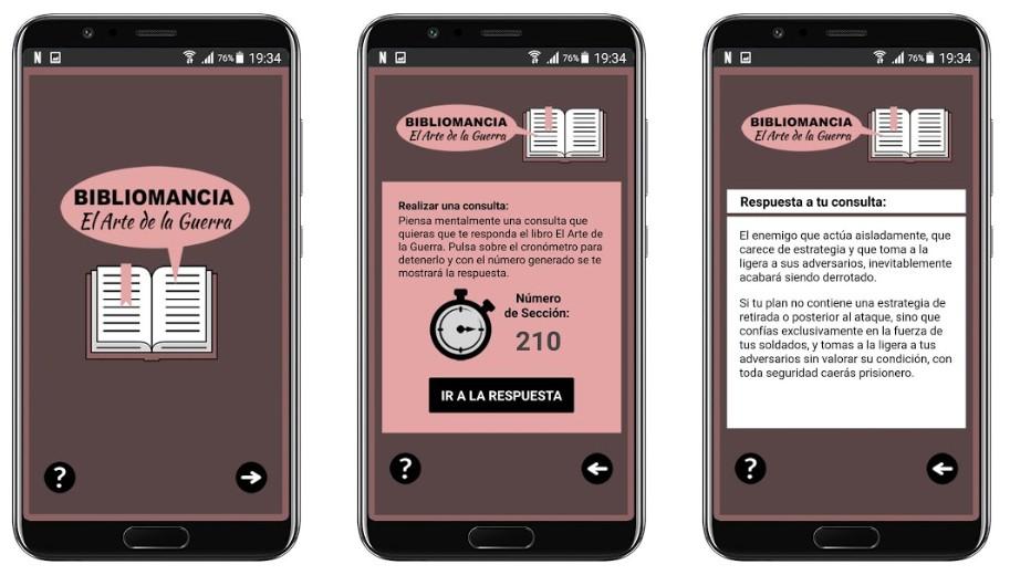 App Bibliomancia - El Arte de la Guerra