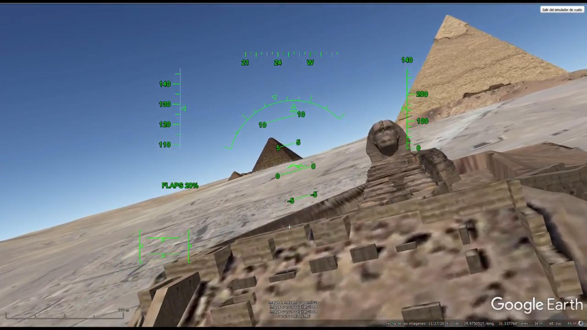 Volando sobre el Everest, el Gran Cañón, las pirámides y el Cristo Redentor con el simulador de vuelo de Google Earth