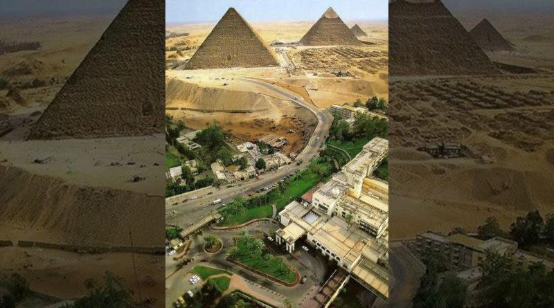 Así de cerca están las pirámides de los edificios de El Cairo