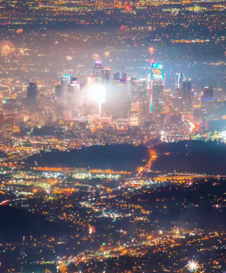 Los Angeles - Timelapse - Año nuevo 2020